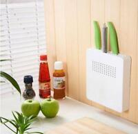Hide Kitchen Knife Holder Block Scissor Storage Organizer-Easy to install