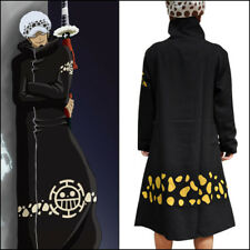 Anime One Piece Trafalgar·Law Costume Cosplay Black Clothing Cloak Cape #T