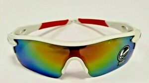 Oulaiou White/red Cycling Sunglasses