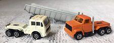 Tierra Rara década de 1980 377 Autos Majorette Naranja eliminación Camión & majorette Mercedes Cab