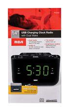 RCA  Black  USB Clock Radio  Digital  Plug-In