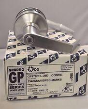 "Brand New PDQ Commercial Lockset GP-176 PHL Privacy 2 3/4"" Satin Chrome 26D"