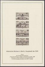 """DDR 2972 I-2975 I S (*) Schwarzdruck """"Historische Brücken in Berlin """"1985"""