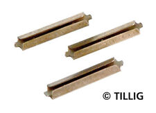 Tillig 85501 NEW RAIL JOINERS NICKEL SILVER BROWNED (25 PIECES)