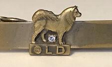 Vintage General Electric GE Tie Clip Bar, LD, Dog, Diamond?