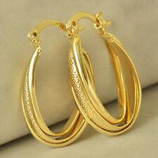 28MM Girls 9K Yellow Gold Filled Huggie Hoop Earrings Womens U-Shape Earrings
