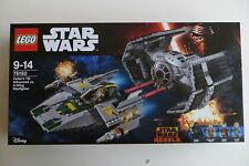 New Sealed Lego Star Wars 75150 Vader's TIE Advanced vs. A-Wing Starfighter