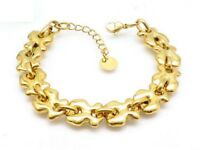 New High Quality Stainless steel Vacuum gold plating Bear Bracelet