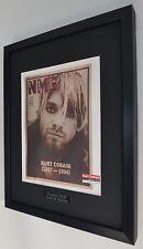 More details for kurt cobain nirvana luxury framed original nme-rare-engraved metal plaque