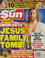 Sun Tabloid March 26 2007 Secrets of Jesus Christ Family Tomb - Shroud of Turin