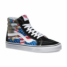 VANS Sk8 Hi Reissue (Free Bird) Black White USA FLAG AMERICANA Merica MEN'S 7.5