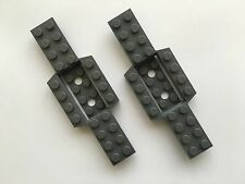 LEGO Vehicle base 4 X 12 x 3/4 with 4 x 2 Grey Colour Part No: 52036