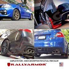 Rally Armor Mud Flaps For 2015-2017 Subaru WRX & STi 4DR Sedan w/ Red Logo