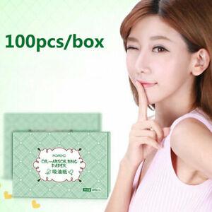 100pcs Oil Facial Blotting Paper Sheets Face GreenTea Cleansing OilAbsorbing new