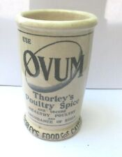 More details for antique rare thorleys food ovum poultry spice pig ironstone measure crock