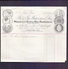 Illustrated Bill Head Geo Waterston & Son Stationary Linlithgow 1872 (RB1
