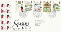 19 JANUARY 1993 SWANS ROYAL MAIL FIRST DAY COVER BUREAU SHS