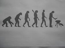 Schablone Evolution grillen auf A4