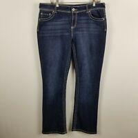 Maurices Straight Leg Womens Dark Wash Blue Jeans Size 13/14 REG