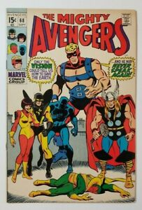 "Avengers #68 FN 6.0  ""Death"" of Ultron! Roy Thomas & Sal Buscema!"