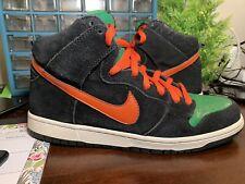 2011 Nike Dunk SB High Jagermeister Halloween Black Green Orange size 10.5 Doom