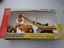 JOAL COMPACT 1/50 - CATERPILLAR CAT CRANE 225 + DUMPTRUCK - REF 382