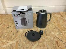BREVILLE Lustra VKT065 Stainless Steel 1.7L Fast/Rapid Boil Kettle In Storm Grey