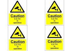 Cámara de Seguridad de las señales de advertencia-A4 Cctv señales de advertencia: Pack De 4 (200mm X 300 Mm)