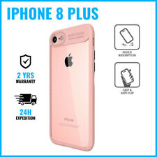 Armor Cover Cas Coque Etui Silicone Hoesje Case Black For iPhone 8 Plus Pink