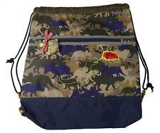 Die Spiegelburg T-Rex World Camoufla Rucksack Tasche Turnbeutel Sporttasche NEU