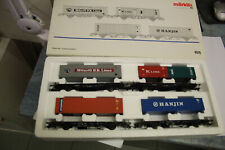 MÄRKLIN H0 SOMO 4515 WAGENSET CONTAINERTRANSPORT DB OVP! GL11
