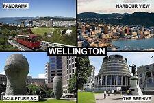 SOUVENIR FRIDGE MAGNET of WELLINGTON NEW ZEALAND