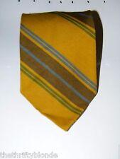 Vintage Brown Stripe Striped Necktie Neck Tie Wool Poly 17347