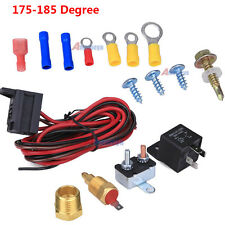 Electric Engine Cooling Fan Thermostat Temperature Relay Switch Sensor Kit 3/8""