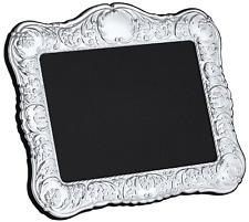 "CARRS - Sterling Silver Photo Frame Victorian design Velvet Back - 5"" x 7"""
