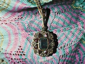Vintage Aquamarine and Diamond Pendant