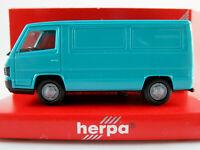 Herpa 040884 Mercedes-Benz 100 D Kasten (1988) in h´blautürkis 1:87/H0 NEU/OVP