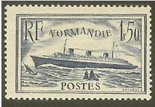 "FRANCE STAMP TIMBRE N° 299 "" PAQUEBOT NORMANDIE 1F50 BLEU "" NEUF xx TTB"