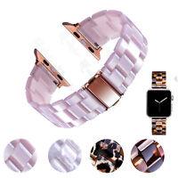 Leopard Tortoise Resin Bracelets Watch Band Strap For Apple iWatch 38 40 42 44mm