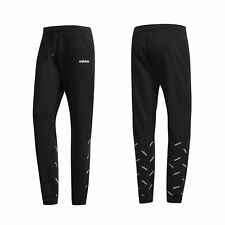 Adidas Mens Graphic Joggers Lounge Casual Track Pants Black DW7867