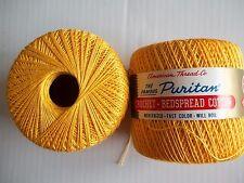 Puritan Star Crochet Thread, mercerized cotton, Yellow, lot of 2 (175 yds each)