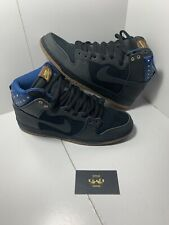 newest 066a6 1ea26 NIKE DUNK HIGH PREMIUM SB SIZE 12 MEN S USA 2014 313171 022 BLACK BLUE STARS