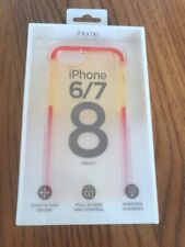 iHome iPhone 6/7/8 Impact Phone Case Clear with Red Bumpers Ships N 24h