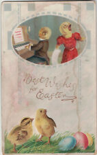 Best Wishes For Easter Posted 1913 Tiffin OH Chicks Eggs Postcard Germany