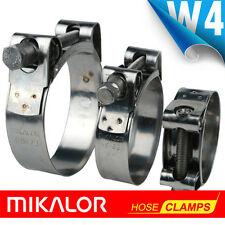 MIKALOR W4 Stainless Steel Hose Clamps / Supra / Exhaust / T Bolt / Marine Clip