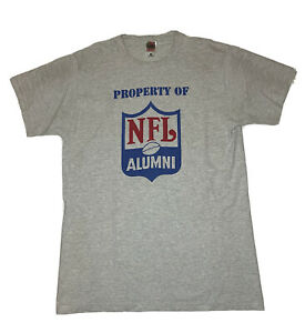 Property Of NFL Alumni Mens Vtg Gray T Shirt Large Shield Football Players