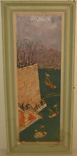 Original MOURA CHABOR Isle St Louis PARIS Seine River French MODERNIST Painting
