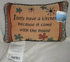 New Only Have Kitchen Came w/ House Rectangular Tapestry Pillow Throw Cushion