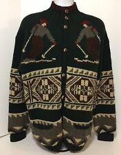 Polo Ralph By Lauren Hand Knit Ski Suicide  Sweater Snow Beach Stadium Bear