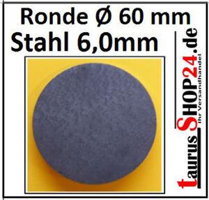 -StahlRonde Ø60x6mm 0Loch Ankerplatte Fußplatte 1391 SR60/6/0 mm taurusShop24.de